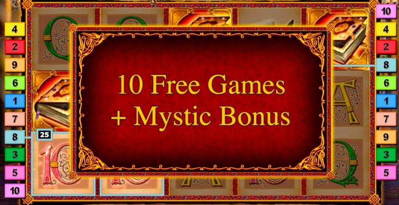 Mystic Secret free spins